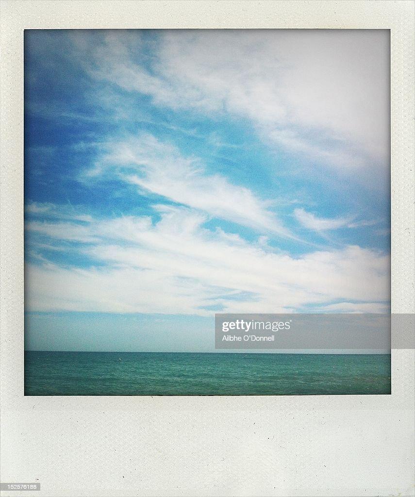 Polaroid blue sky and sea