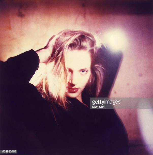Polaroid famous face series Actress Uma Thurman posed for Polaroid at the night club MK 1988