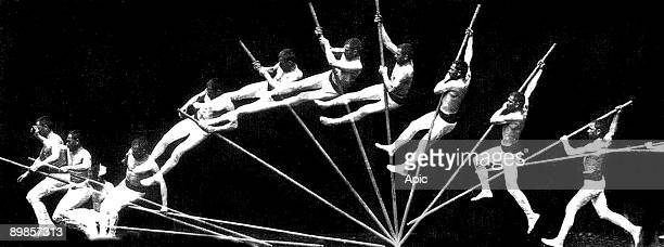 Pole vault chronophotography by EtienneJules Marey 1887