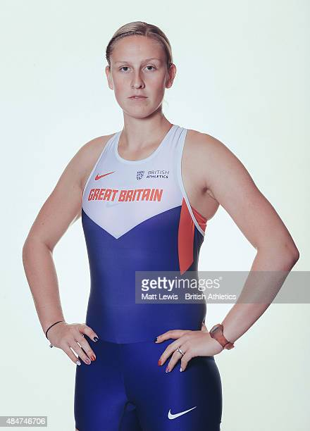 Pole Vaulter Holly Bradshaw of Great Britain poses for a portrait during a Training Session on August 17 2015 in Fukuoka Japan