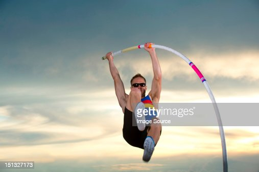 Pole vaulter : Stock Photo