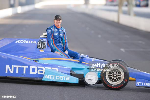 Pole winner Scott Dixon during the Front Row Photo Shoot for the 101st Indianapolis on May 22 at the Indianapolis Motor Speedway in Indianapolis...