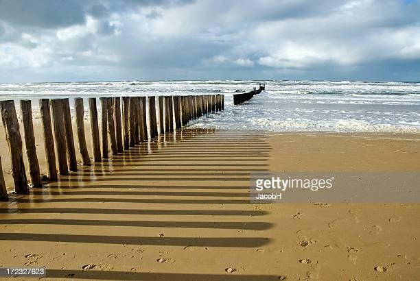 Poles on the Beach