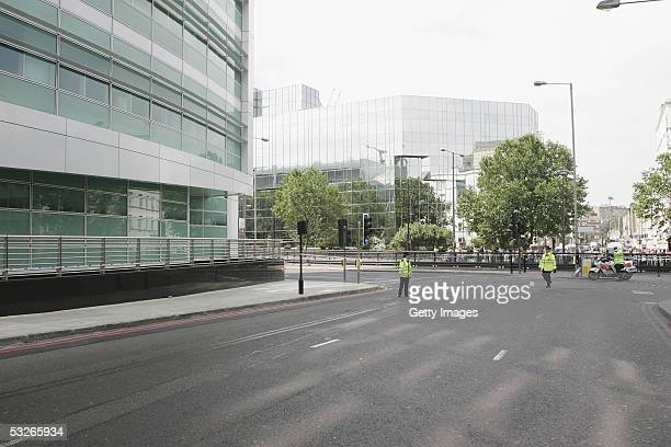 Police and Emergency services are seen by the Euston Underpass having closed the surrounding roads on July 21 2005 in London Three London underground...