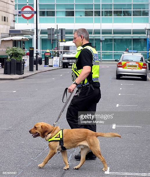 Police and Emergency services are seen outside the Warren St Tube Station on July 21 2005 in London Three London Underground stations were evacuated...