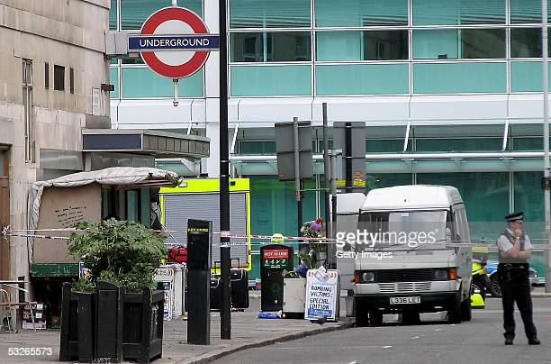 Police and Emergency services are seen outside the Warren Street Station July 21 2005 in London Three London underground train stations have been...