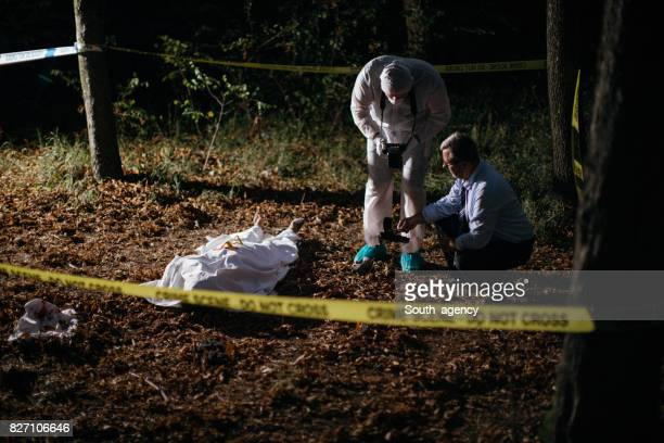 Police and forensics working