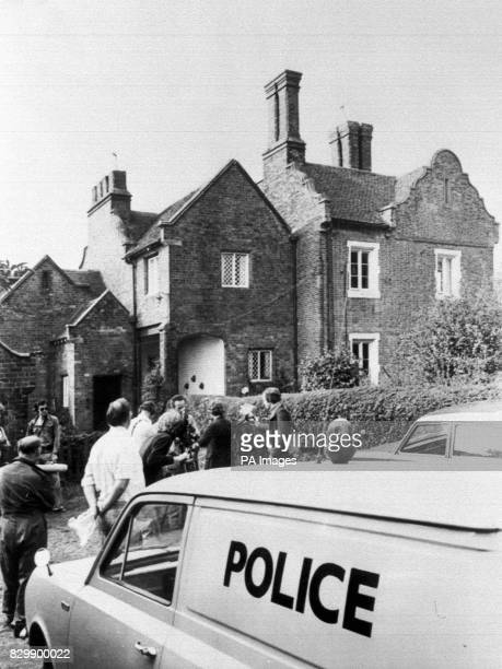 Police and newsmen outside Yew Tree Farm Kingswinford West Midlands where the body of newspaper boy Carl Bridgewater was found The three surviving...
