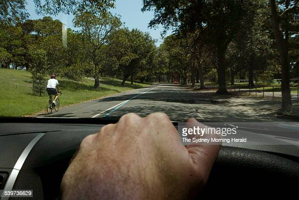Police and rangers target speeding cars and cyclists beyond the 30 km/hr limit in Centennial Park 2 February 2006 SMH Picture by ANDREW MEARES