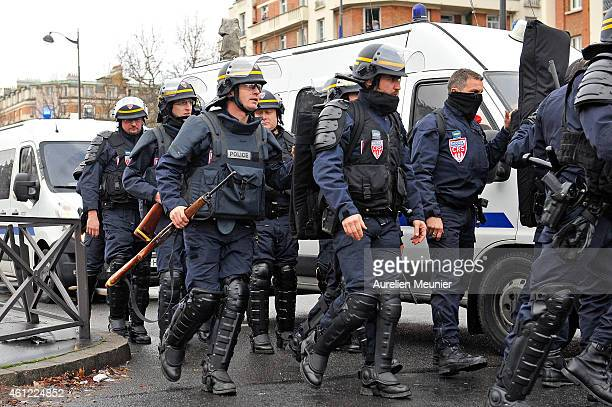 Police are mobilized with reports of a hostage situation at Port de Vincennes on January 9 2015 in Paris France According to reports at least five...