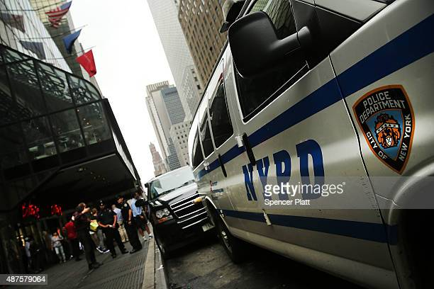 Police are viewed outside of the Grand Hyatt hotel in Manhattan following the mistaken arrest of James Blake a retired top10 professional tennis...
