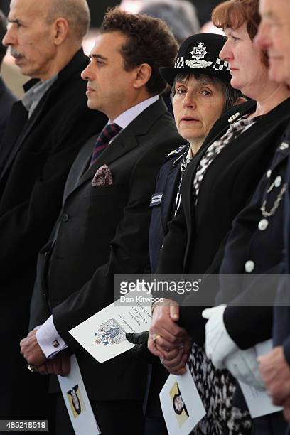 Police Assistant Commissioner Cressida Dick listens during a memorial service for the murdered Police woman Yvonne Fletcher in St James' Square on...
