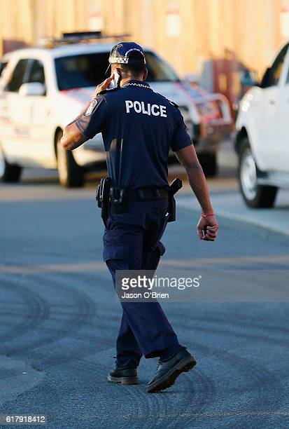Police at Dreamworld on October 25 2016 in Gold Coast Australia Four people have been confirmed dead following an accident on the Thunder River...