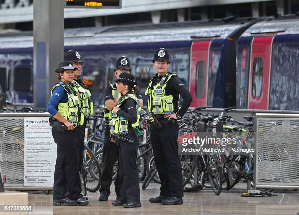 Police at Paddington train station in London after a terrorist incident was declared following a blast which sent a quotfireballquot and a quotwall...