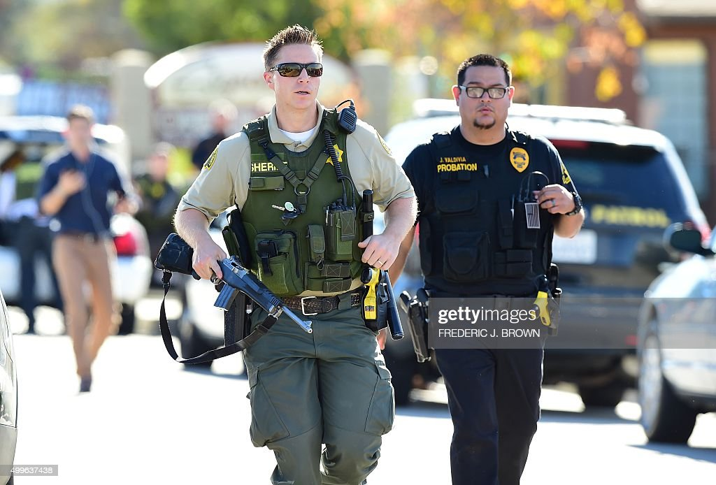 Police at the scene of a shooting on December 2 2015 in San Bernardino California One or more gunman opened fire inside a building in San Bernardino...