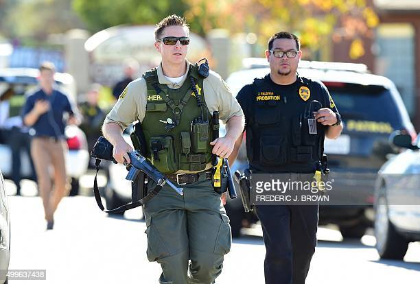 Police at the scene of a shooting on December 2 2015 in San Bernardino California One or more gunman opened fire inside a building in San Bernardino...
