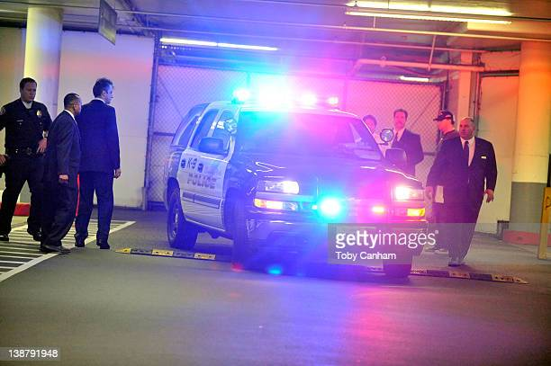 Police attend the Beverly Hilton Hotel in the early hours of February 12 2012 in Los Angeles CA Singer and film star Whitney Houston aged 48 has died...