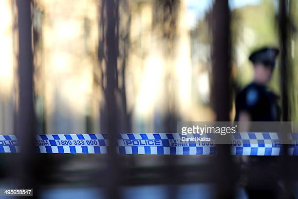 Police block off King William Street to negotiate with fugitive Rodney Ian Clavell on June 5 2014 in Adelaide Australia Clavell a former prison guard...