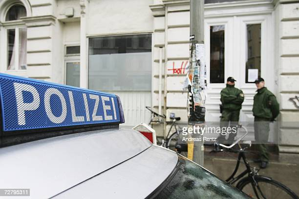 Police block off the entrance to a house at Erzbergerstrasse 4 where Russian businessman Dmitry Kovtun who is currently undergoing treatment for...