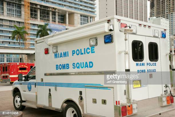 A police bomb squad vehicle at the Urban Area Security Initiative in Bayfront Park