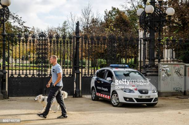 A police car control the access to the Ciutadella park and the Catalan Parliament Few hours after the President of the Generalitad Carles Puigdemont...