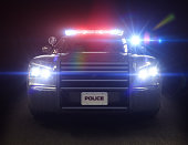 Police car cruiser ,with full array of lights and tactical lights. Part of a first responder series