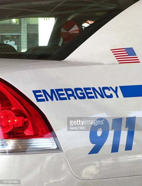 Police Car Emergency 911 Close Up
