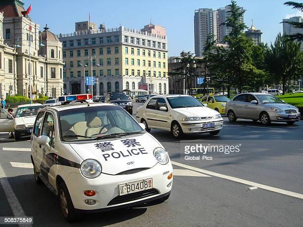Police car in Dalian
