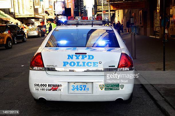NYPD police car in New York New York on MAY 11 2012