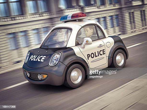 police car in the city