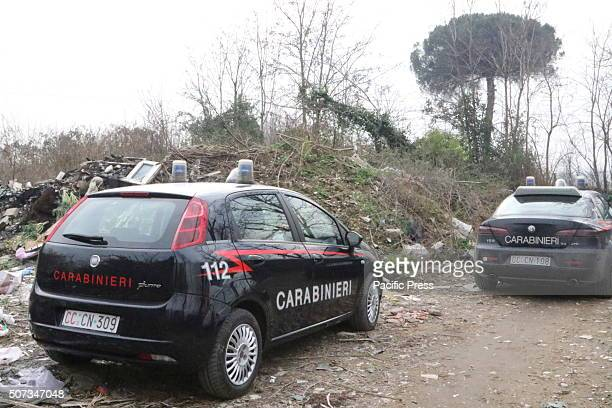 Police cars during the investigation in Napoli Two bullets in the face And then the body set on fire A Charred corpse was found in a dirt road near...