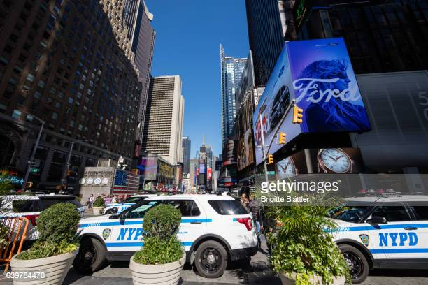 Police cars on Times Square