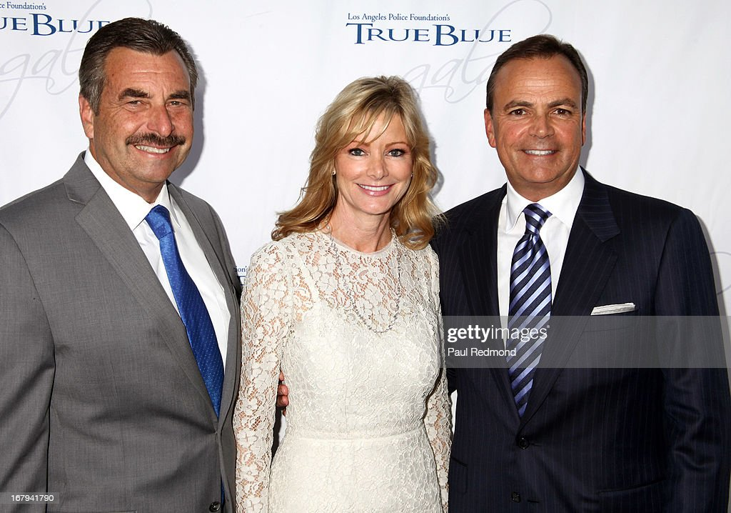 Police Chief Charlie Beck, Tina Caruso and real estate developer Rick J. Caruso attends The Los Angeles Police Foundation's 15th Anniversary True Blue Gala at Paramount Studios on May 2, 2013 in Hollywood, California.