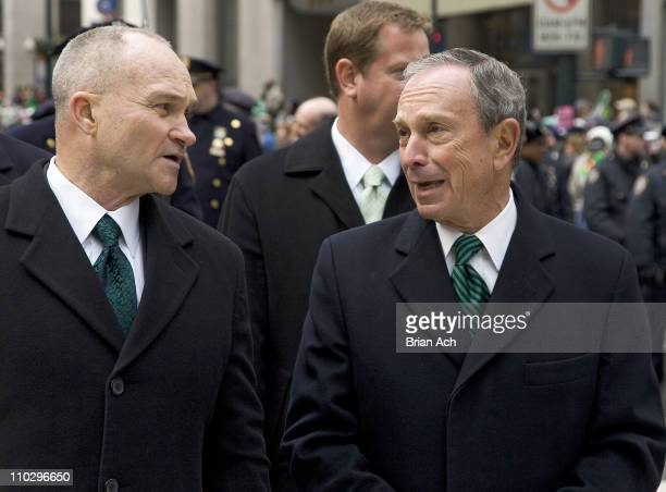 NYC Police Commissioner Raymond W Kelly NYC Mayor Michael Bloomberg