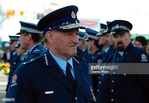 Police Commissioner Rob Robinson at the Cathedral of the holy spirit Broadway Palmerston North for the funeral of murdered police officer Duncan John...