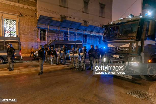 Police control the Movements for the right to housing that contesting the Five star Movement and its leader Bebbe Grillo who is holding a show called...