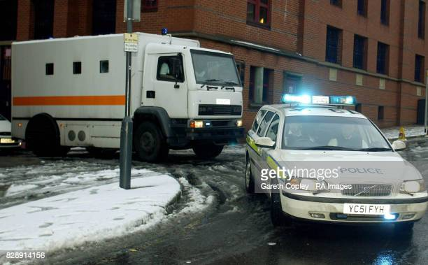 A police convoy carrying David Francis Bieber also known as Nathan Wayne Coleman leaves Leeds Bridewell Police Station after he appeared at the...