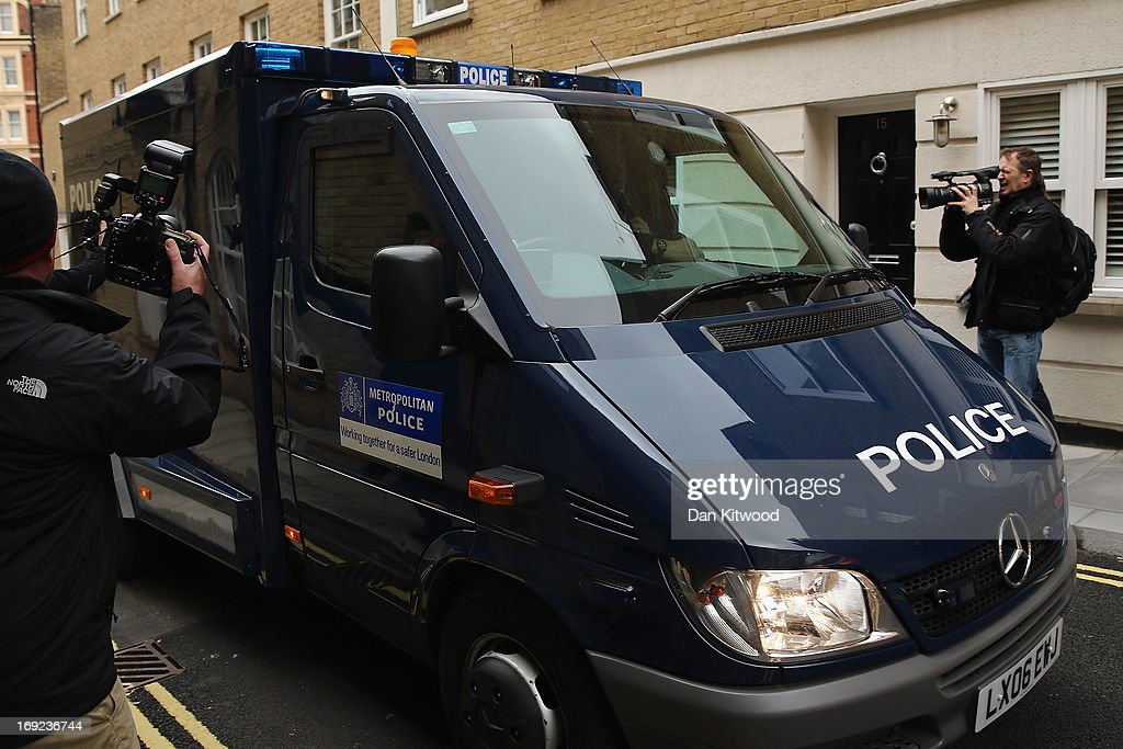 A police convoy carrying suspected IRA bomber John Anthony Downey arrives at Westminster Magistrates Court on May 22, 2013 in London, England. John Anthony Downey, 61, of County Donegal, Ireland has been charged with the murder of four members of the Royal Household Cavalry in the 1982 IRA bombing in Hyde Park after his arrest at Gatwick Airport on Sunday.