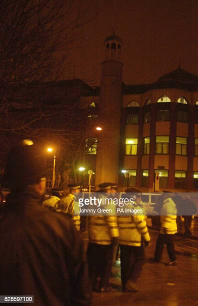 Police cordon off the area around Finsbury Park Mosque in north Londonafter 150 officers conducted a raid in the early hours and arrested seven...