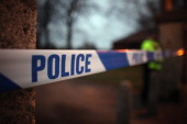 A police cordon seals off Elmfield Park Doncaster following the death of a 13yearold girl on February 15 2012 in Doncaster England Police...