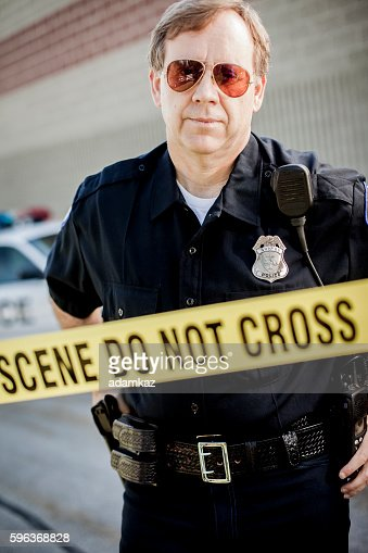Police detective crime scene