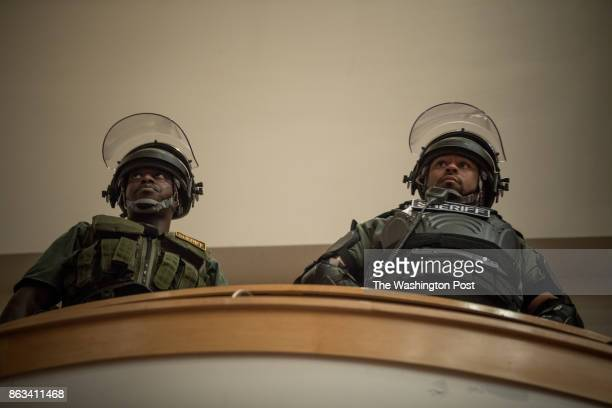 Police during a speech by Richard Spencer at the University of Florida to a mostly empty 1700 seat capacity venue October 19 at the University of...