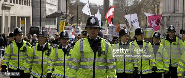 Police During The Put People Frist March In London