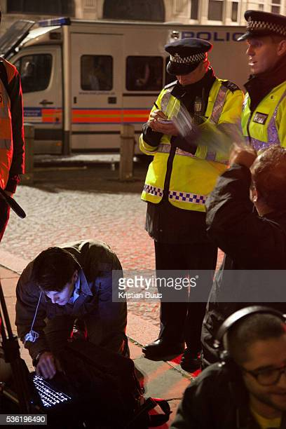 Police enquiring journalists for footage a highly irregularly procedure and the journalists decline The London Stock Exchange was attempted occypied...