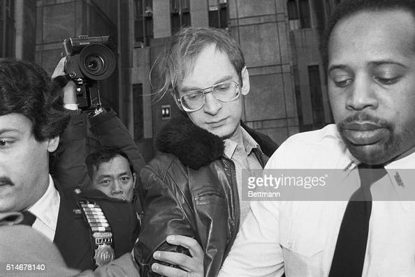 Police escort Bernhard Goetz out of a New York courthouse after a hearing in his attempted murder trial Goetz shot four African American teenagers on...
