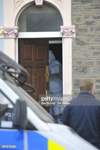 A police forensic officer searches a property in Belle Vue Road Easton Bristol after a 19yearold man was arrested under the Terrorism Act in the city
