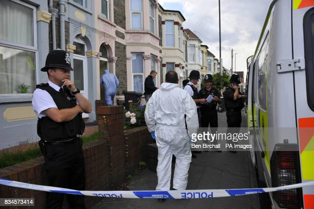 A police forensic team searches a property in Belle Vue Road Easton Bristol after a 19yearold man was arrested under the Terrorism Act in the city