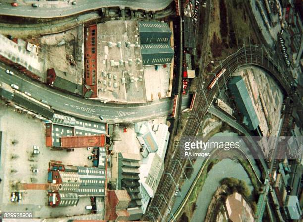 A police hand out picture of an aerial view of the Globe Road area of Leeds where a serial rapist dumped two of his victims one of which was pushed...