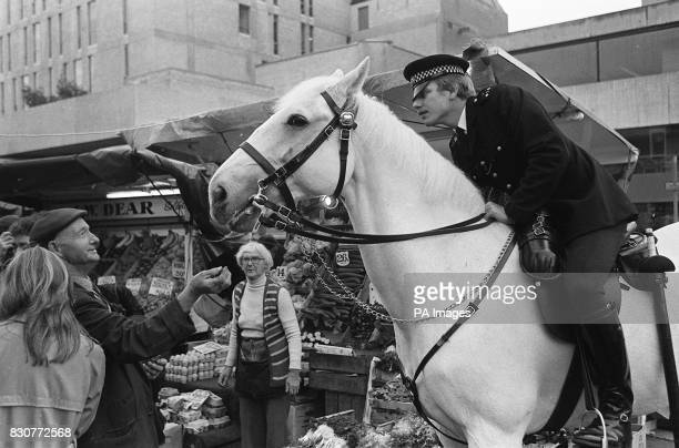 Police horse Echo and rider Pc John Davies back on the beat in London after recovering from injuries sustained at the Hyde Park bombing The retired...