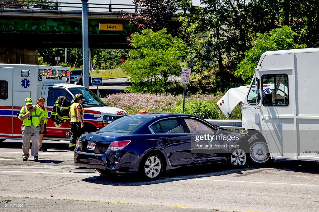 Police in Scarborough investigate the scene of a crash at Cummings Road and Payne Road in Scarborough Friday morning, July 1, 2016, after the driver allegedly fled the scene of a car crash on Cummings Road.